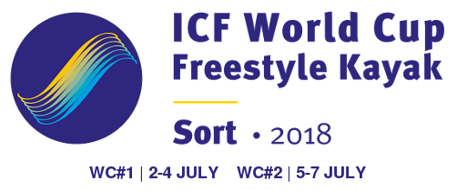 Logo ICF World Cup Freestyle Kayak Sort 2018