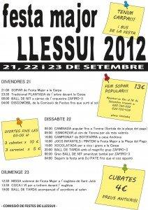 Cartell de la Festa Major de Llessui