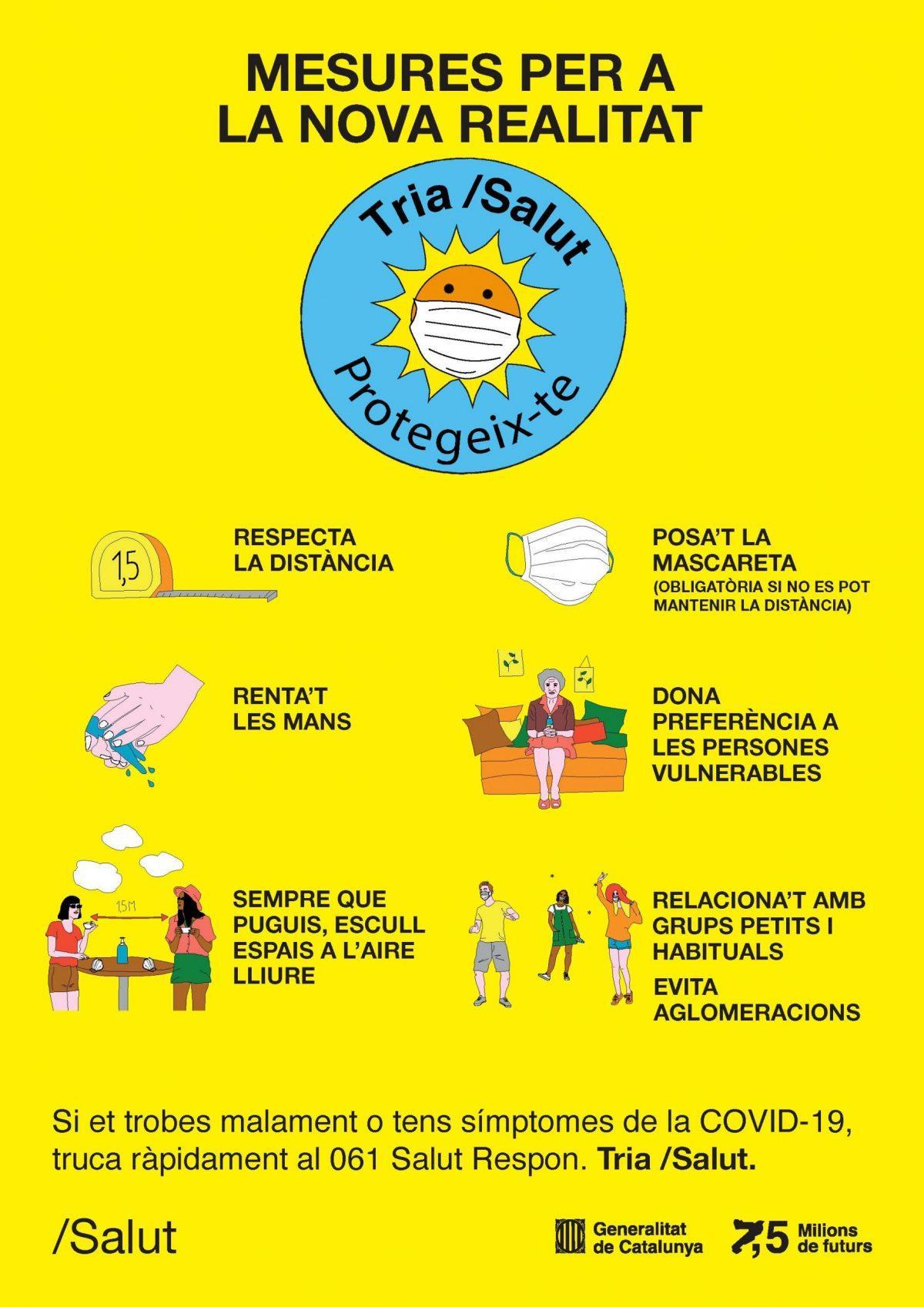cartell consells estiu coronavirus