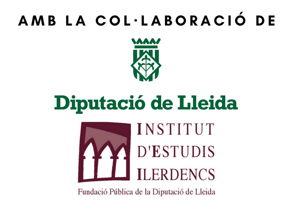 logotip institucions patrocinadores: Diputació de Lleida, Institut d'Estudis Ilerdencs