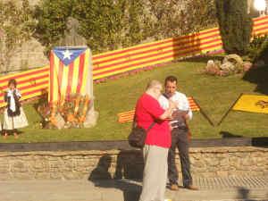 Entrega a l'Assemblea Nacional de Catalunya de les adhesions de les entitats del municipi al Pacte pel Dret a Decidir