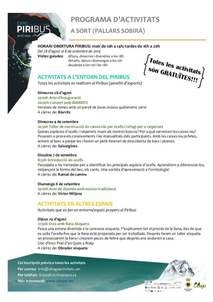 Programa Piribus  primera pàgina