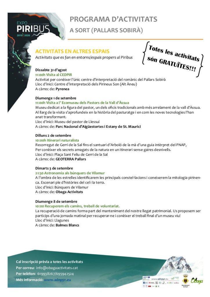 Programa Piribus segona pàgina